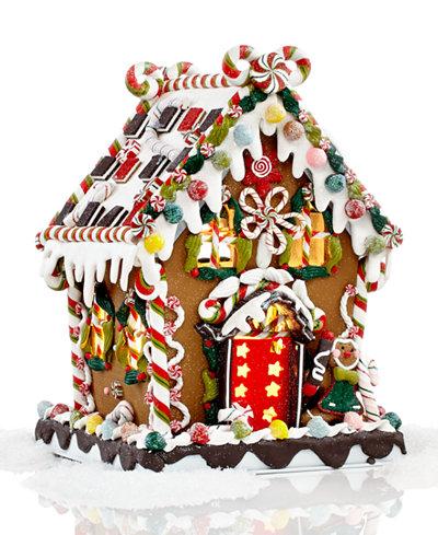 Kurt Adler PreLit Christmas Gingerbread House Holiday Lane - Christmas gingerbread house