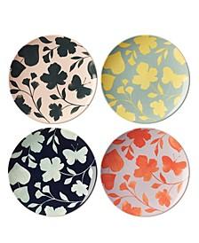 Petal Lane Floral Accent Plate Set/4
