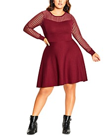 Trendy Plus Size Ribbed Sweater Dress