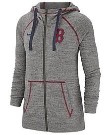 Women's Boston Red Sox Gym Vintage Full-Zip Hooded Sweatshirt