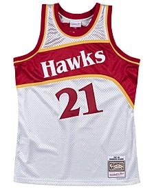Men's Dominique Wilkins Atlanta Hawks Platinum Swingman Jersey