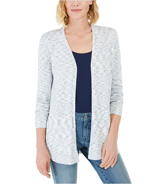 Charter Club Curved-Hem Completer Sweater, Created For Macy's