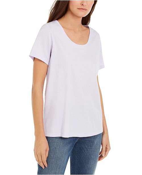 Eileen Fisher Organic Cotton Scoop-Neck T-Shirt