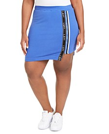 Trendy Plus Size High-Low Active Mini Skort