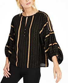 Metallic-Striped Top, Created for Macy's