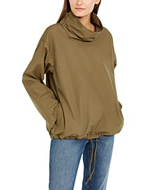 Funnel-Neck Organic Cotton Pull-On Jacket