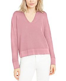 V-Neck Organic Cotton Sweater