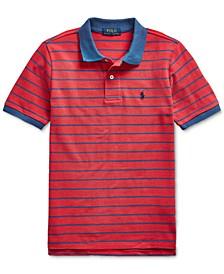 Big Boys Cotton Mesh Polo Shirt