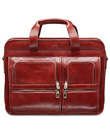 Signature Collection Top Zippered Double Compartment Laptop and Tablet Briefcase