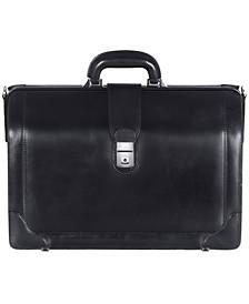 Signature Collection Triple Compartment Laptop Compatible Litigator Briefcase