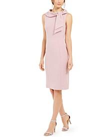 Neck-Tie Sheath Dress
