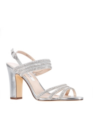 Nina Shandra High Block Heel Sandals Women s Shoes E589