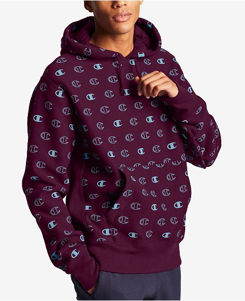 Champion Men's C Logo SPA Print Hoodie