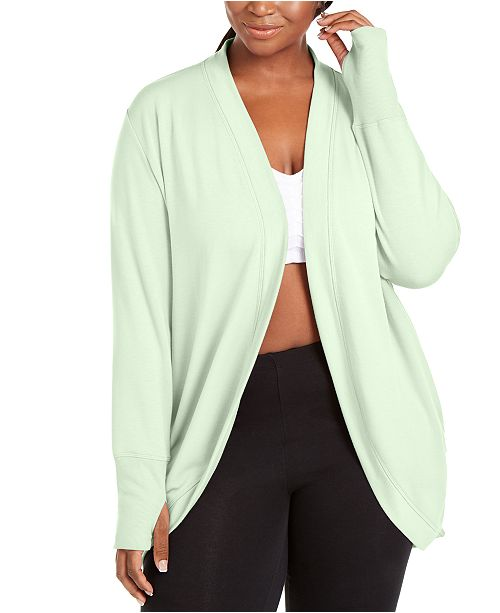 Ideology Plus Size French Terry Wrap, Created for Macy's