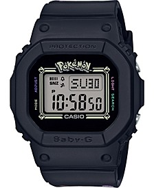 Women's Digital Pokemon Black Resin Strap Watch 40mm