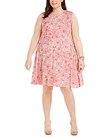 Plus Size Printed Swing Dress, Created For Macy's