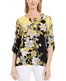 Printed Hardware-Keyhole Tunic, Created for Macy's