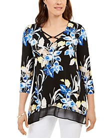 Printed Chiffon-Hem Tunic, Created for Macy's