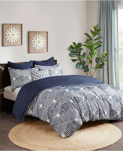 INK+IVY Ellipse 3-Piece Full/Queen Cotton Jacquard Comforter Set