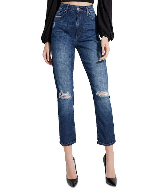 GUESS It Girl High-Rise Straight Jeans