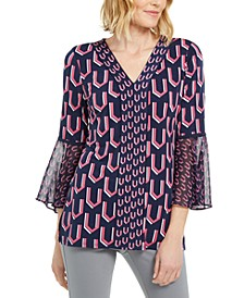 Printed Bell-Sleeve Tunic, Created for Macy's