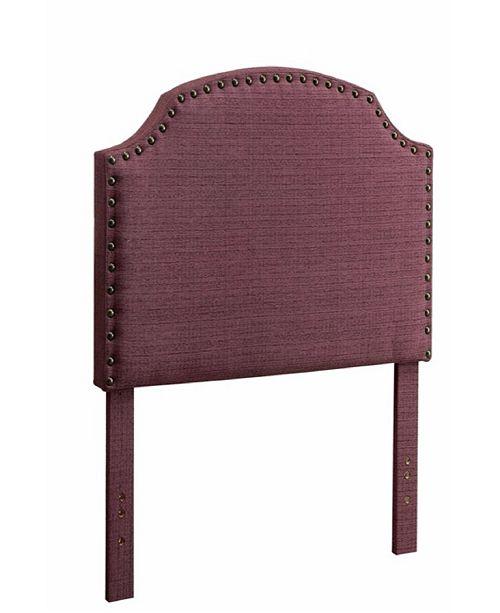 Benzara King Headboard, Purple