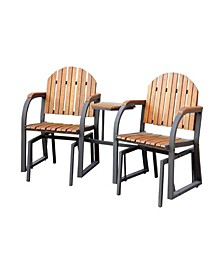 Contemporary Style Rocking Chair Set