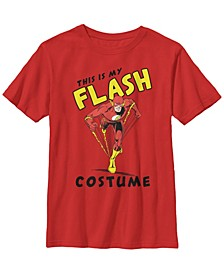 DC Comics Little and Big Boys This Is My Flash Costume Short Sleeve T-Shirt