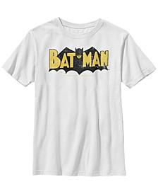DC Comics Little and Big Boys Classic Batman Logo Short Sleeve T-Shirt