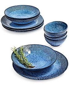 Denim Narrow-Fluted 12-Pc. Dinnerware Set, Service for 4
