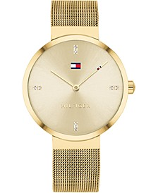 Women's Gold-Tone Stainless Steel Mesh Bracelet Watch 35mm