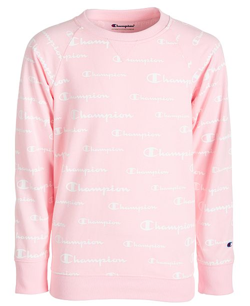 Champion Big Girls Printed French Terry Sweatshirt