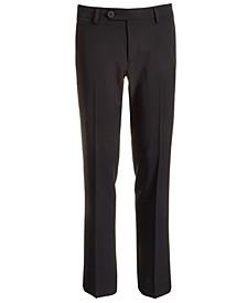 Big Boys Classic-Fit Stretch Black Suit Pants