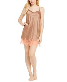 INC Lace-Trim Charmeuse Chemise Nightgown, Created for Macy's