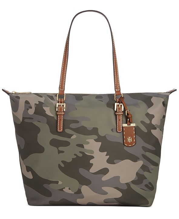 Tommy Hilfiger Julia Camo Zippered Tote
