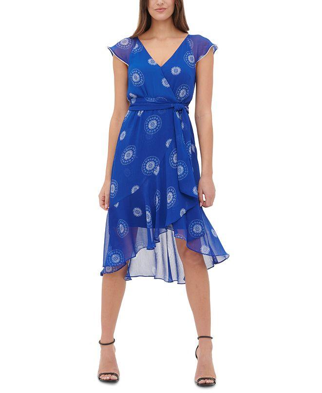 Tommy Hilfiger Petite High-Low Chiffon Dress