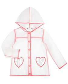 Toddler Girls Clear Heart Raincoat, Created for Macy's
