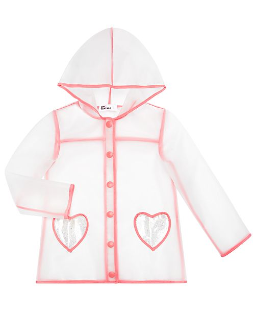 Epic Threads Little Girls Clear Heart Raincoat, Created for Macy's