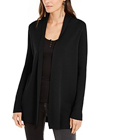 INC Slick Yarn Open-Front Completer Cardigan, Created for Macy's