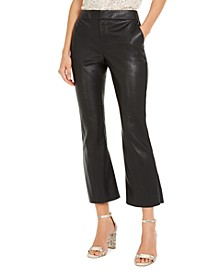 INC Faux-Leather Culotte Pants, Created For Macy's