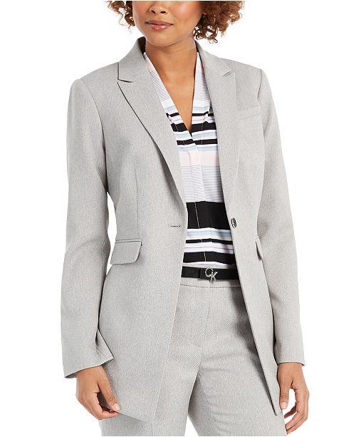 Calvin Klein Petite One-Button Blazer