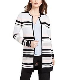 Colorblocked Striped Cardigan
