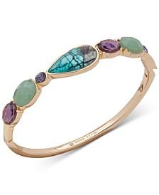 Gold-Tone Crystal & Stone Bangle Bracelet