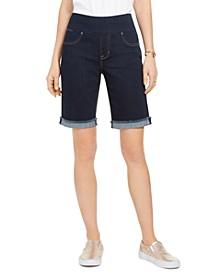Petite Ella Cuffed Bermuda Shorts, Created for Macy's
