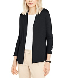 Petite Snap-Sleeve Cardigan, Created for Macy's