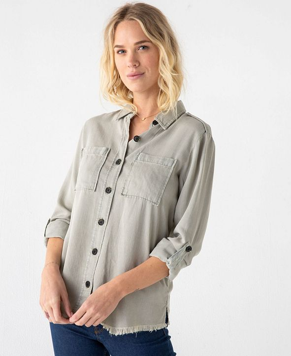 Thread and Supply Thread Supply Soft Double Pocket Long Sleeve Button Down