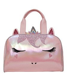 Queen Gwen Metallic Dome Duffle Bag