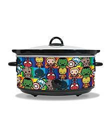 Marvel Kawaii 7 Quart Slow Cooker With Removable Ceramic Bowl