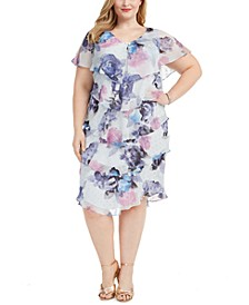 Plus Size Tiered Shift Dress