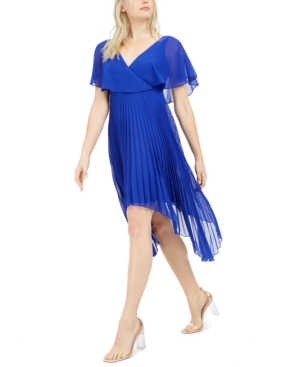 Kensie KENSIE CHIFFON PLEATED DRESS